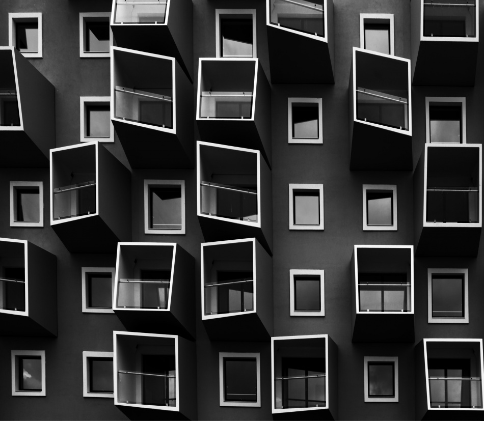 A piece of fine art art photography titled Living In Boxes by Kent Mathiesen