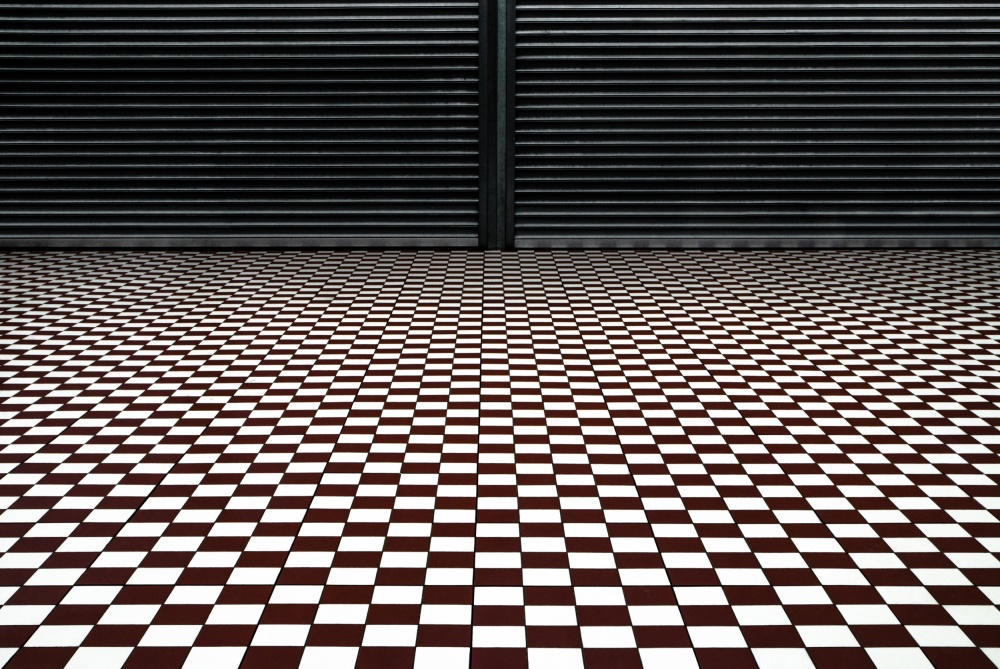 A piece of fine art art photography titled The Hypnotic Floor by Gilbert Claes