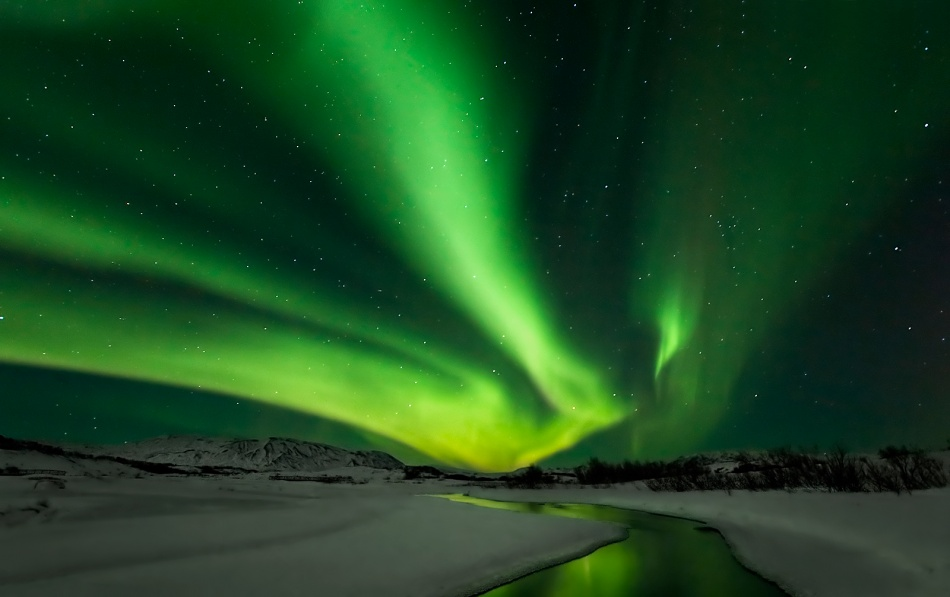 A piece of fine art art photography titled Aurora Borealis by Bragi Ingibergsson - BRIN