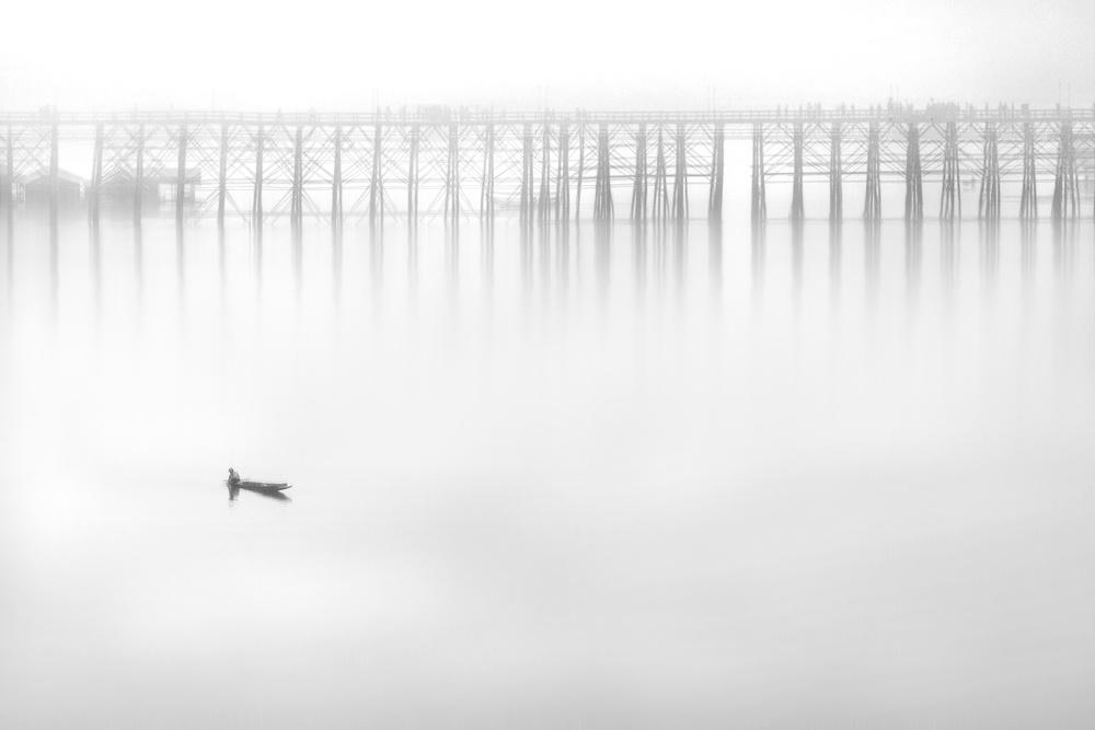 A piece of fine art art photography titled On the Silent Wave by Ekkachai Khemkum