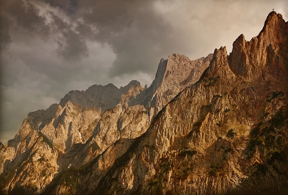A piece of fine art art photography titled Mountain Cross by Zsolt Arkossy