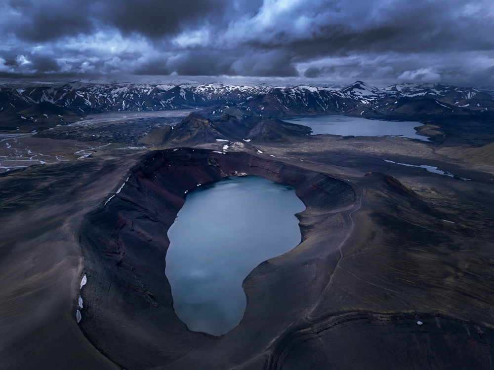 A piece of fine art art photography titled Cloudy Icelandic Highlands by Predrag Petrovic