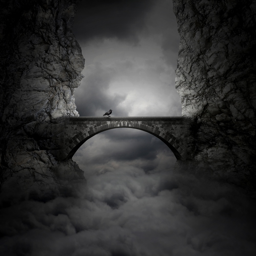 A piece of fine art art photography titled Bridge by Zoltan Toth