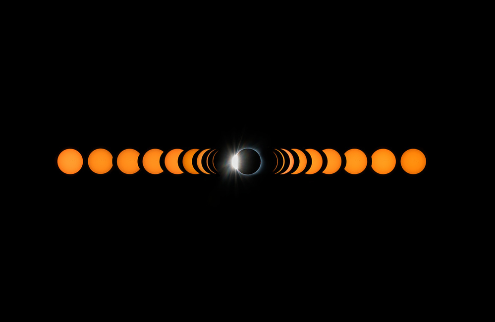 A piece of fine art art photography titled 2017 Total Solar Eclipse by Hua Zhu