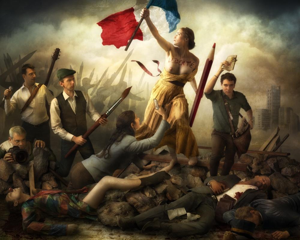 A piece of fine art art photography titled Liberté D'Expression by Christophe Kiciak