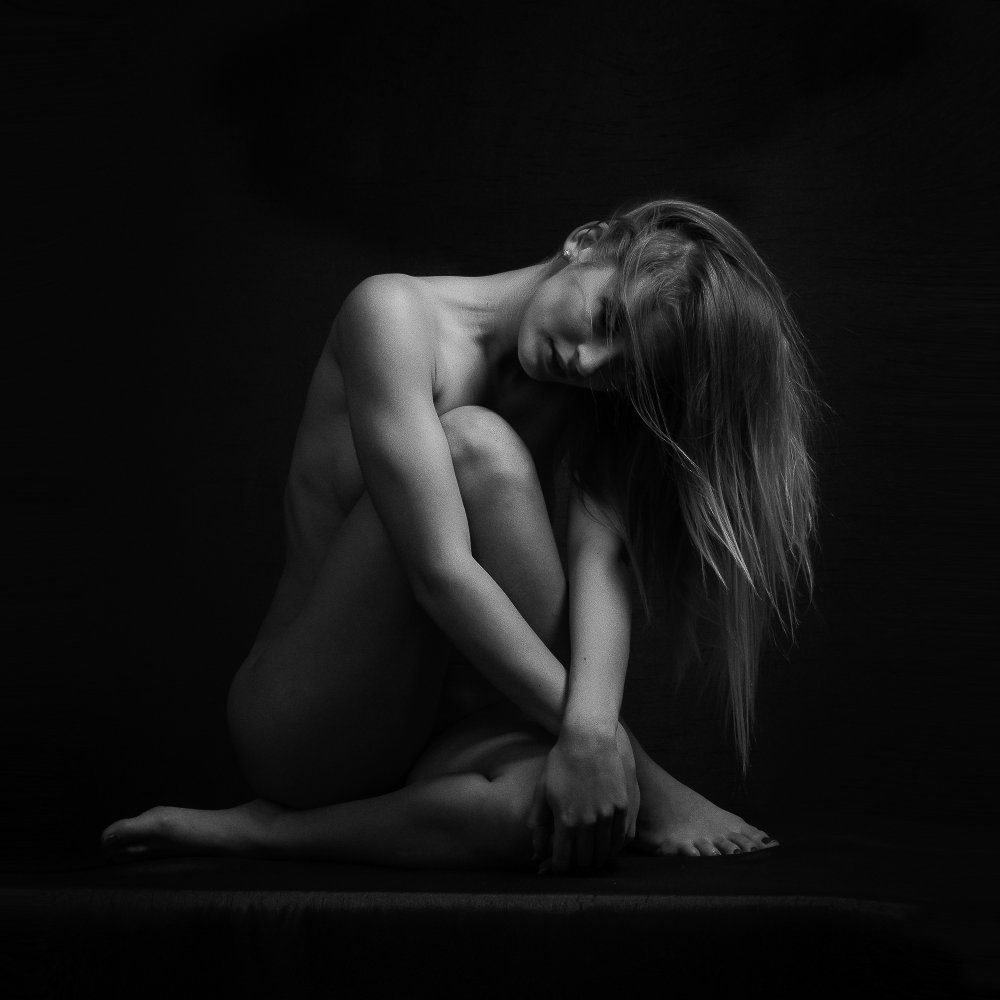 A piece of fine art art photography titled The Girl by Balazs Bartal