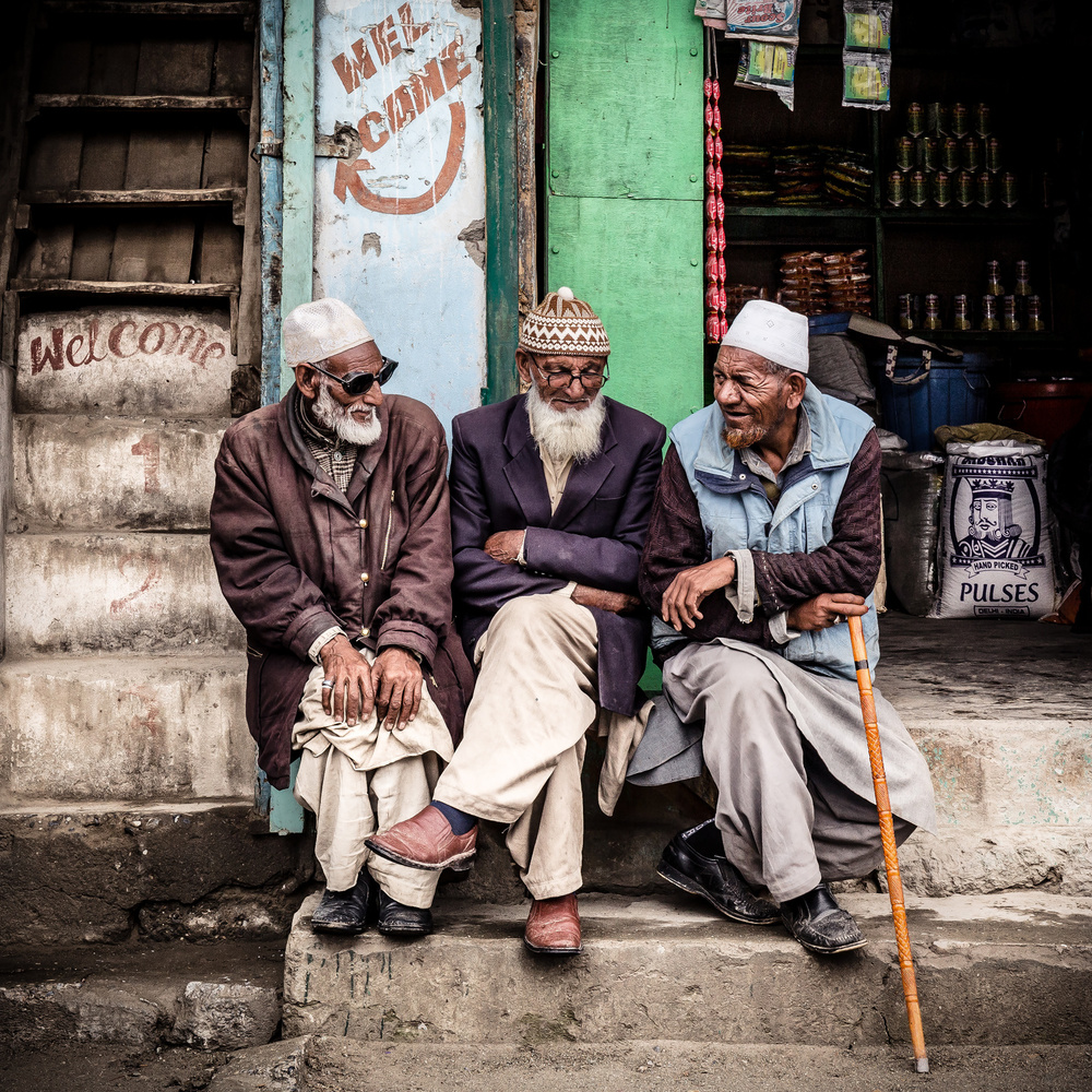 View this piece of fine art photography titled Three men from Kashmir by Marco Tagliarino