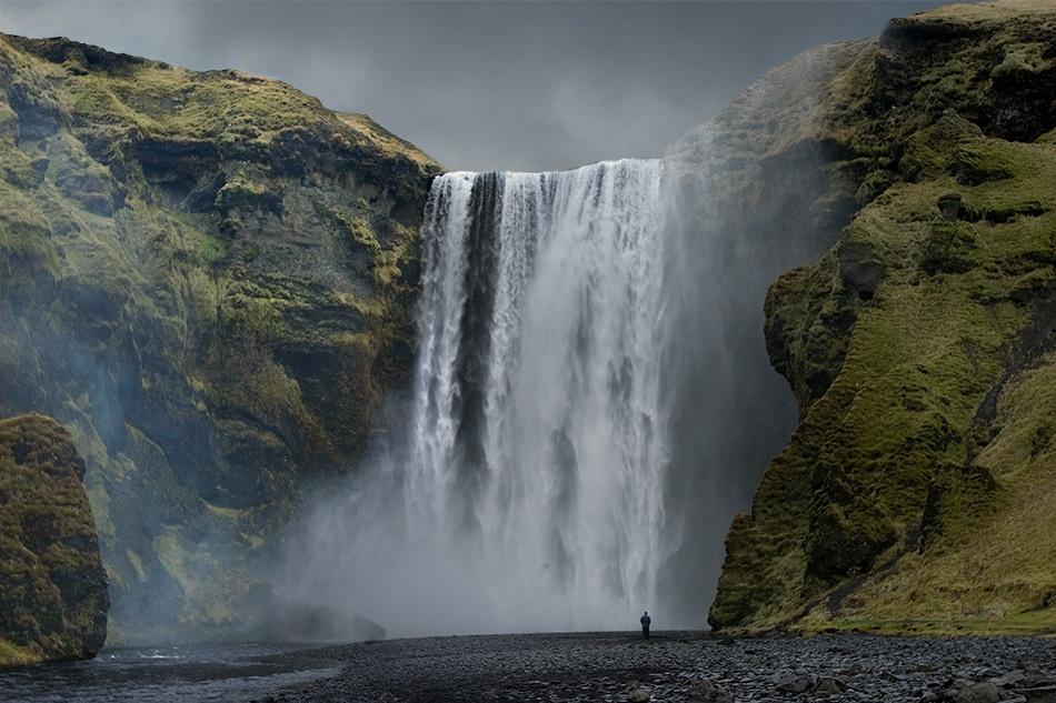 A piece of fine art art photography titled Skogafoss Waterfall by Axel Gimenez