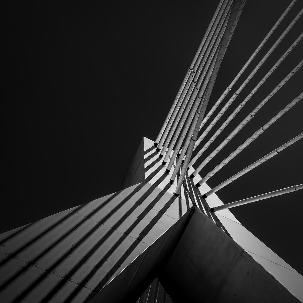 A piece of fine art art photography titled Pont De La Poya Fribourg Switzerland by Serge Mion