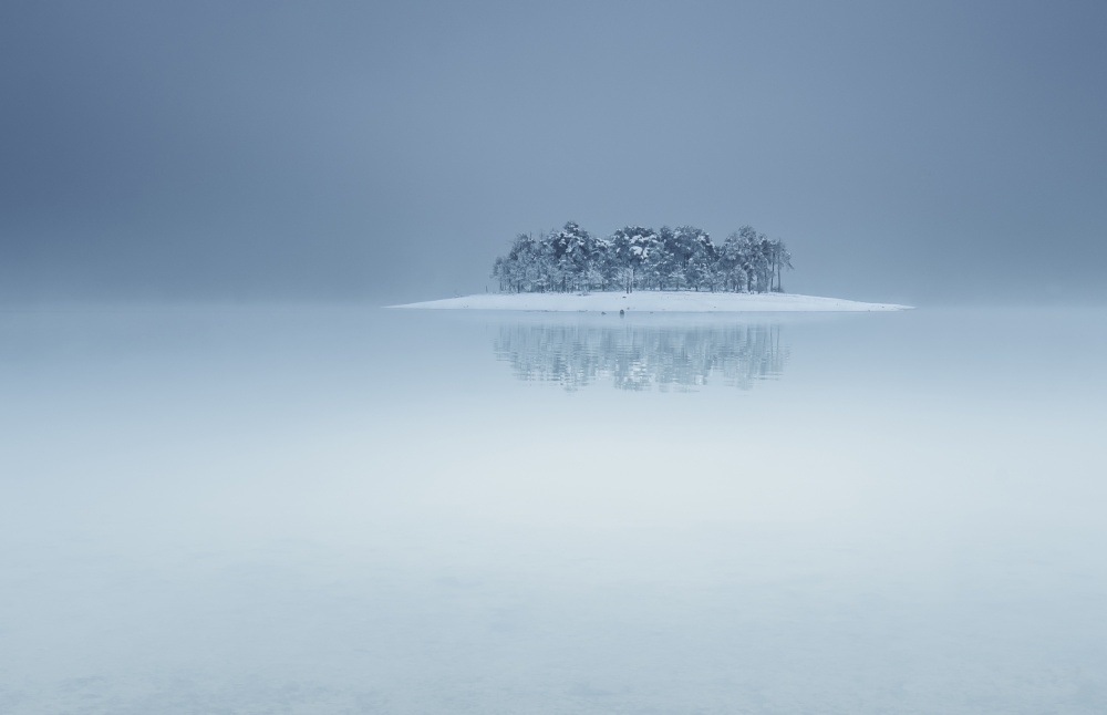 A piece of fine art art photography titled The Lonely Island by Andrey Trifonov