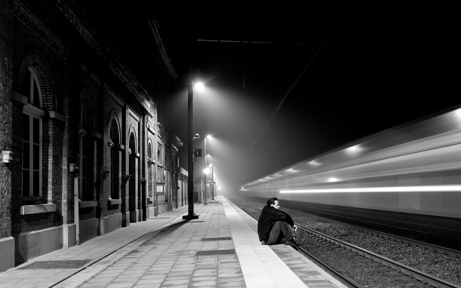 A piece of fine art art photography titled Last Passenger by Tim Corbeel