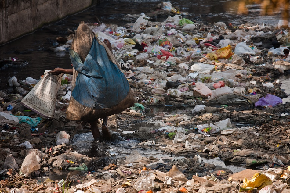 A piece of fine art art photography titled Poverty & Pollution by Ehsan Abbasi