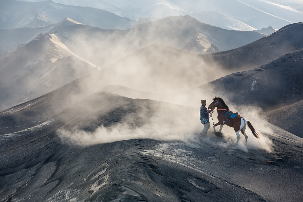 A piece of fine art art photography titled The Horseman by Gunarto Song