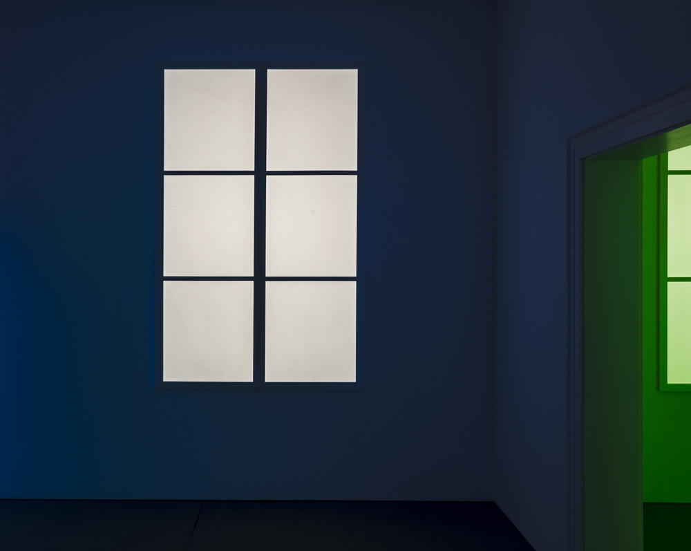 A piece of fine art art photography titled Blue and Green Light by minimalist