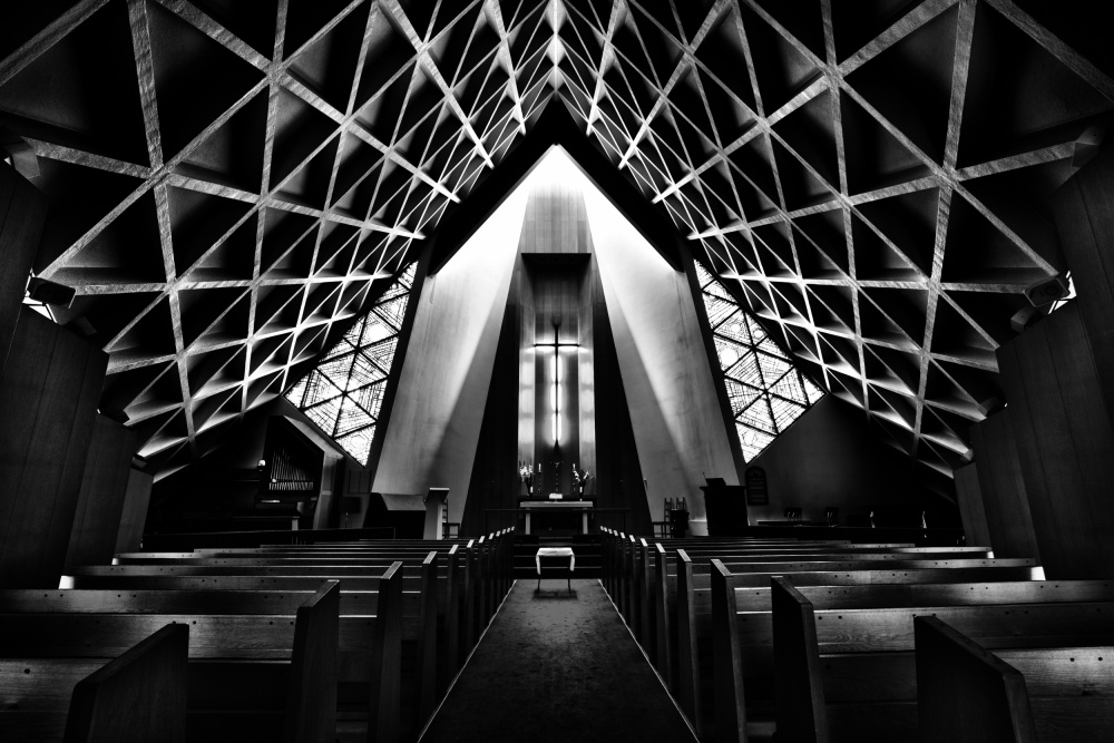 A piece of fine art art photography titled Olafsvik Church by Martin Cekada