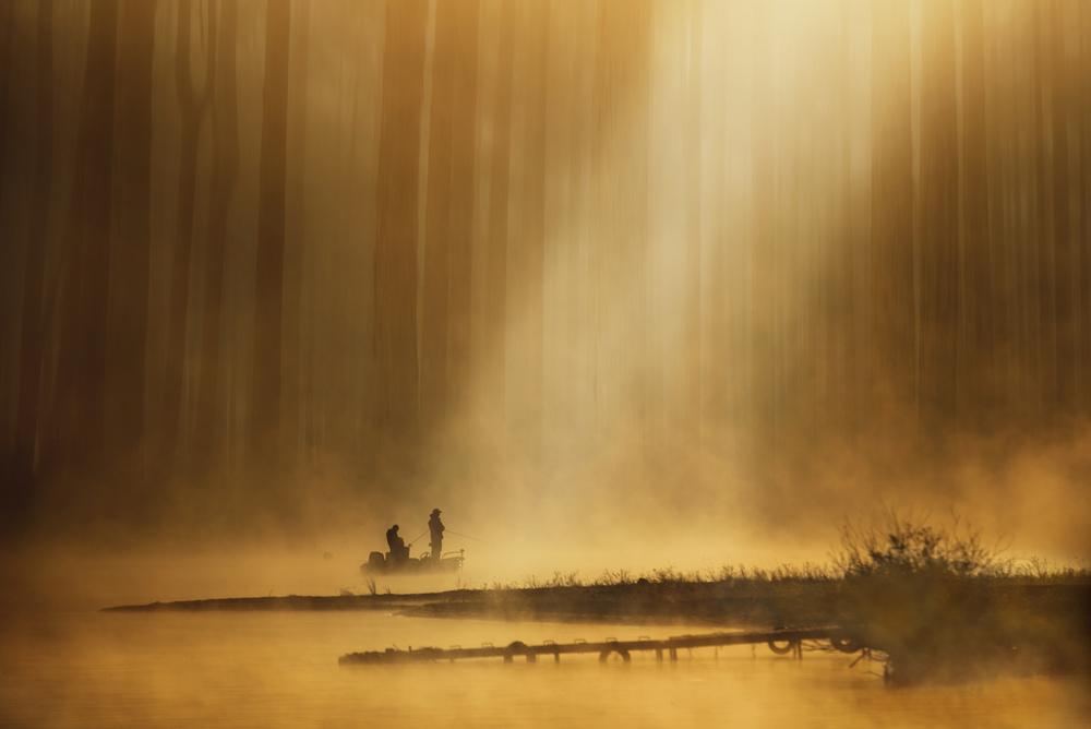 A piece of fine art art photography titled Golden Silence by Takashi Suzuki