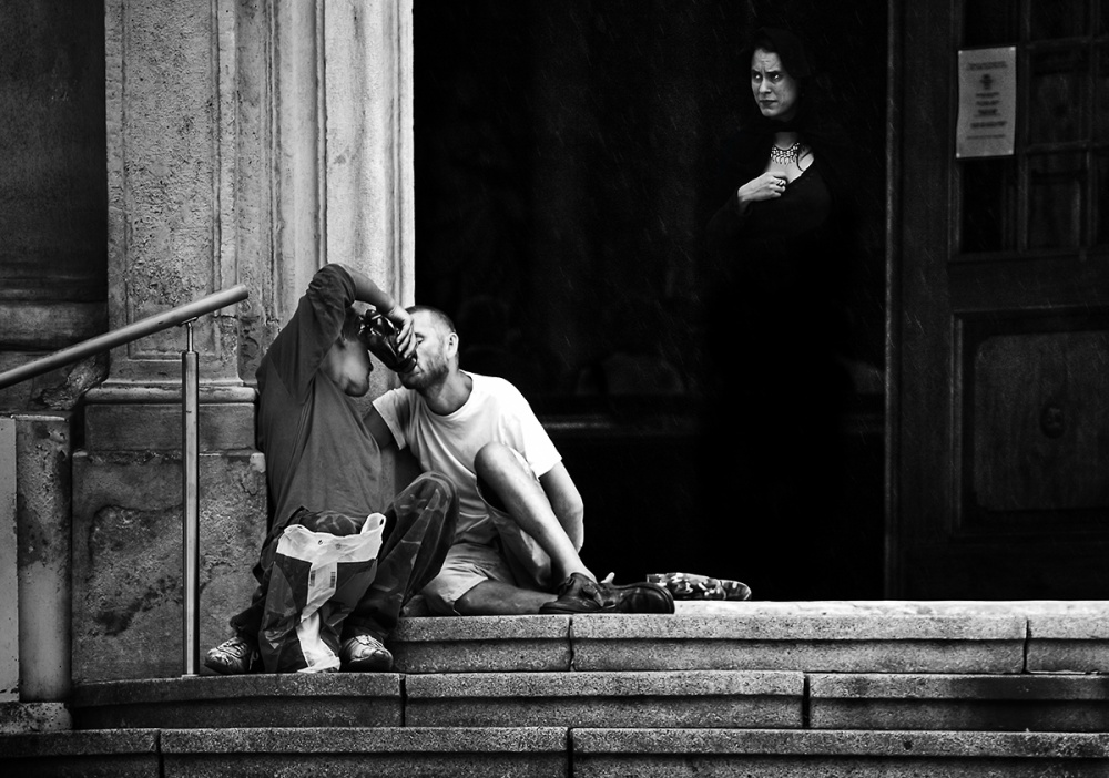 A piece of fine art art photography titled Sunday Before the Church by Perfecky