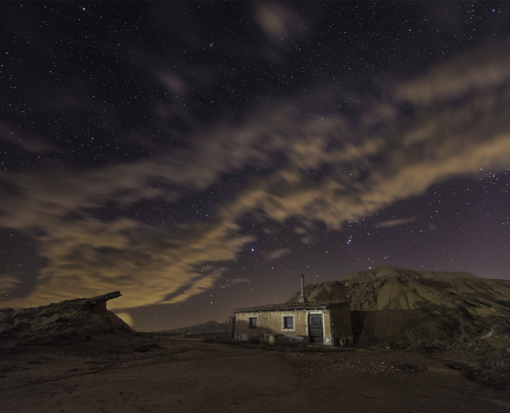 A piece of fine art art photography titled Bardenas Night by Martin Zalba