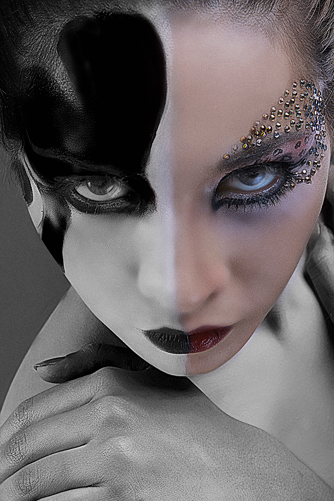 A piece of fine art art photography titled Joker and  Queen by camelia qrei