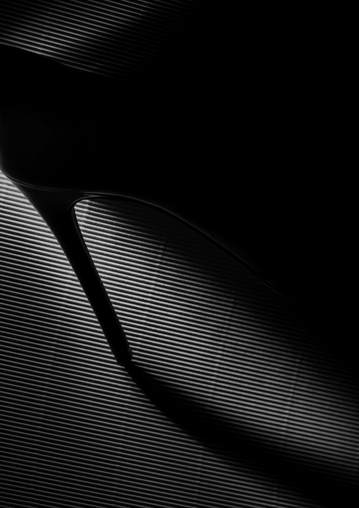 A piece of fine art art photography titled Black Heel Down by Erik Schottstaedt