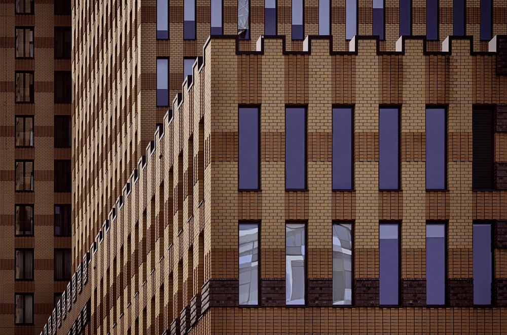 A piece of fine art art photography titled Notched Facade by Greetje van Son