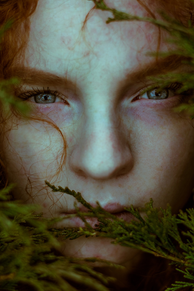 View this piece of fine art photography titled Eliska in green by Svetlana Melik-Nubarova
