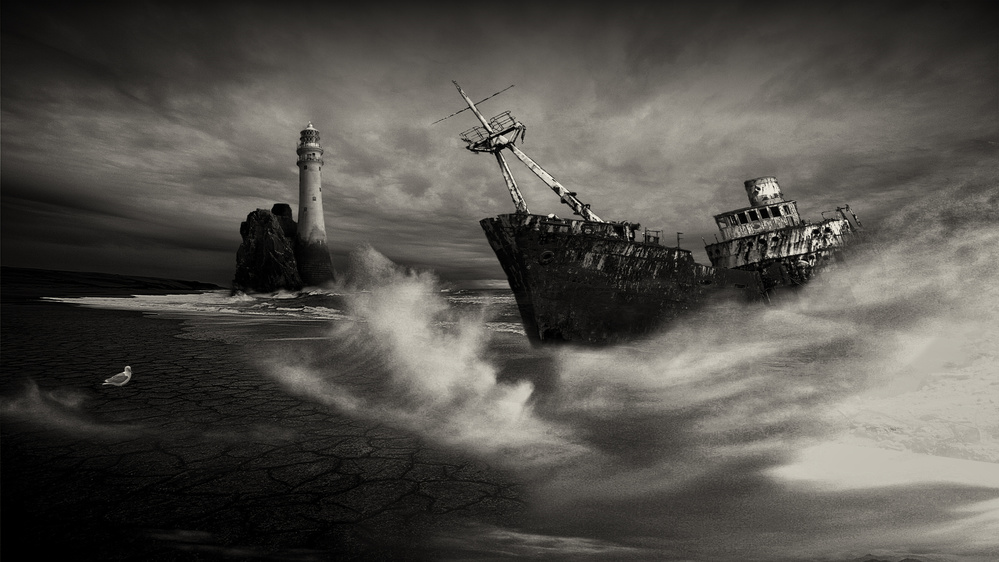 A piece of fine art art photography titled Storm Sea by Rainer Maennel AFIAP