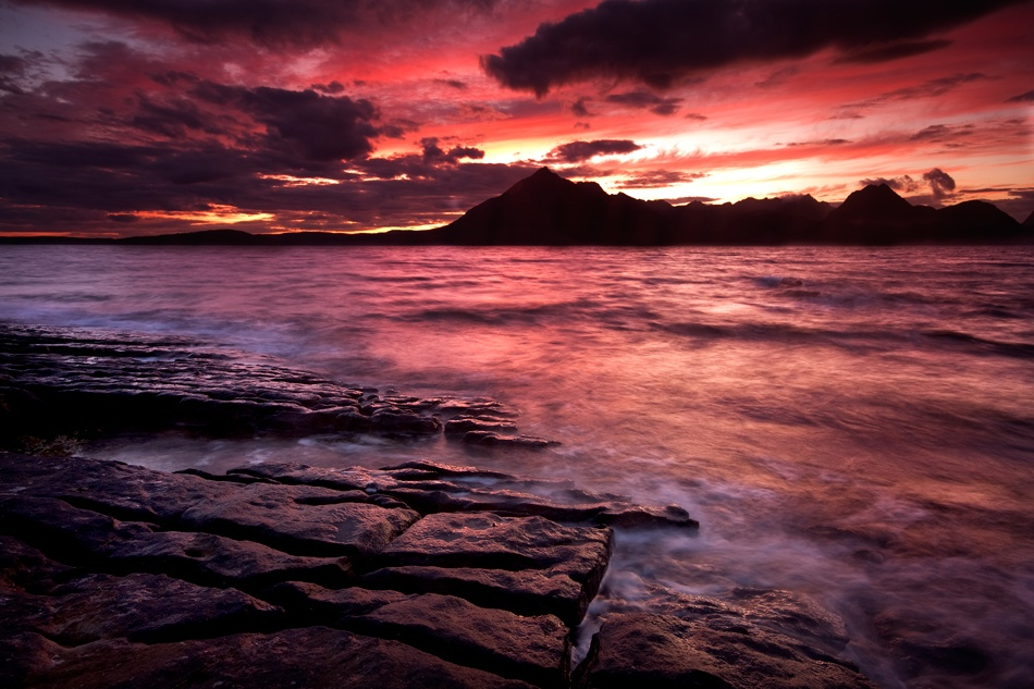 A piece of fine art art photography titled Red Sky at Night by Graham Cormie