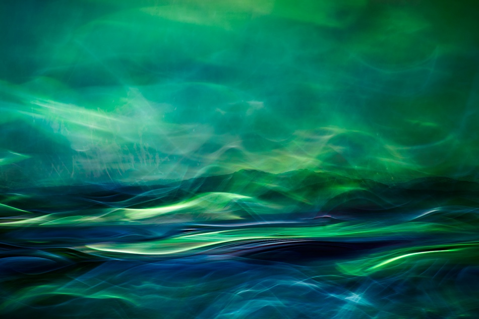 A piece of fine art art photography titled Northern Lights by Willy Marthinussen