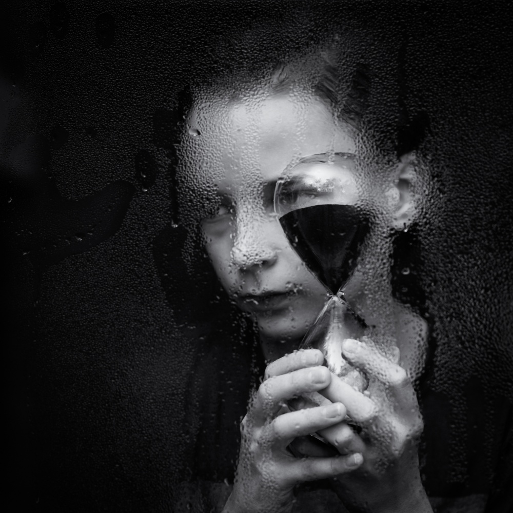 A piece of fine art art photography titled Time Goes By by Mirjam Delrue