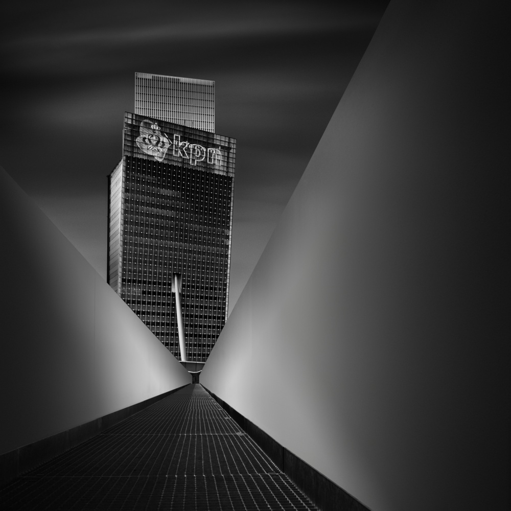A piece of fine art art photography titled Working Dynamics I ~ KPN Telecom Tower by Mabry Campbell