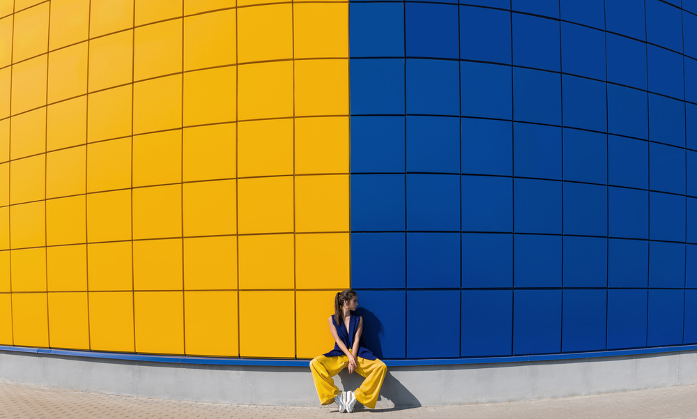 A piece of fine art art photography titled Yellow and Blue by Anna