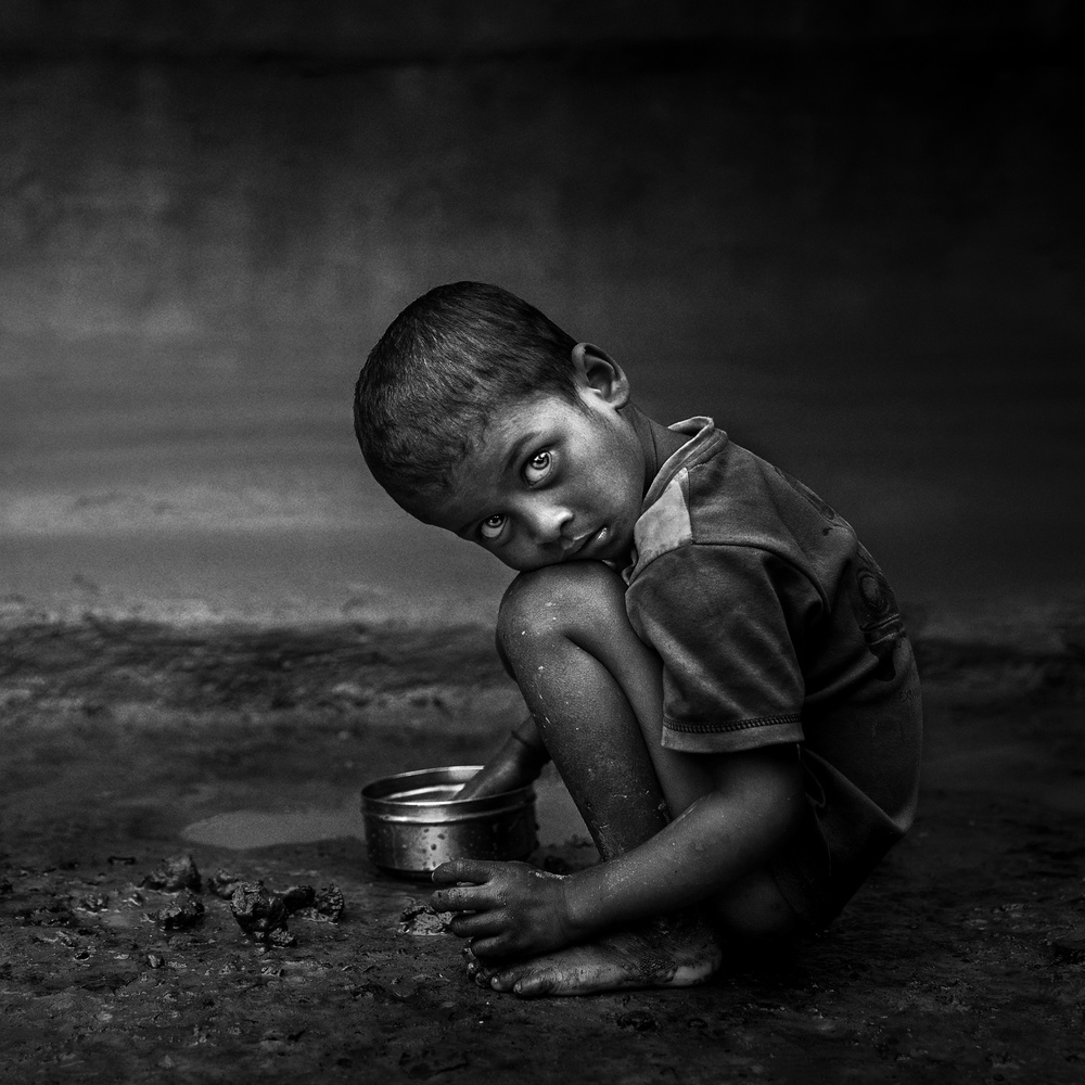 A piece of fine art art photography titled Poverty Life by Fadhel Almutaghawi