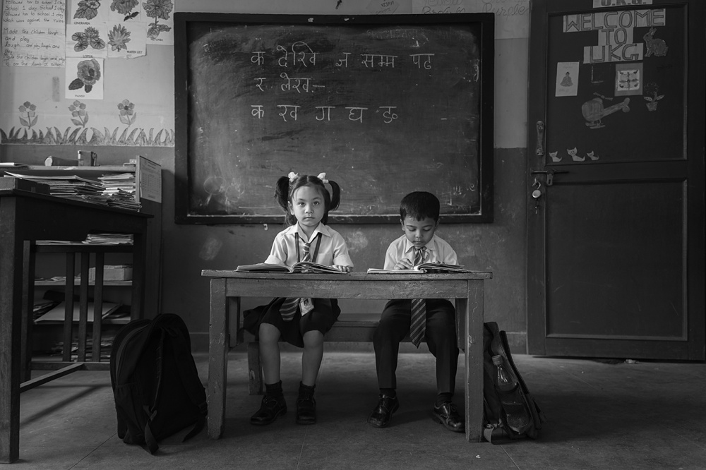 A piece of fine art art photography titled I Love School by Haitham AL Farsi