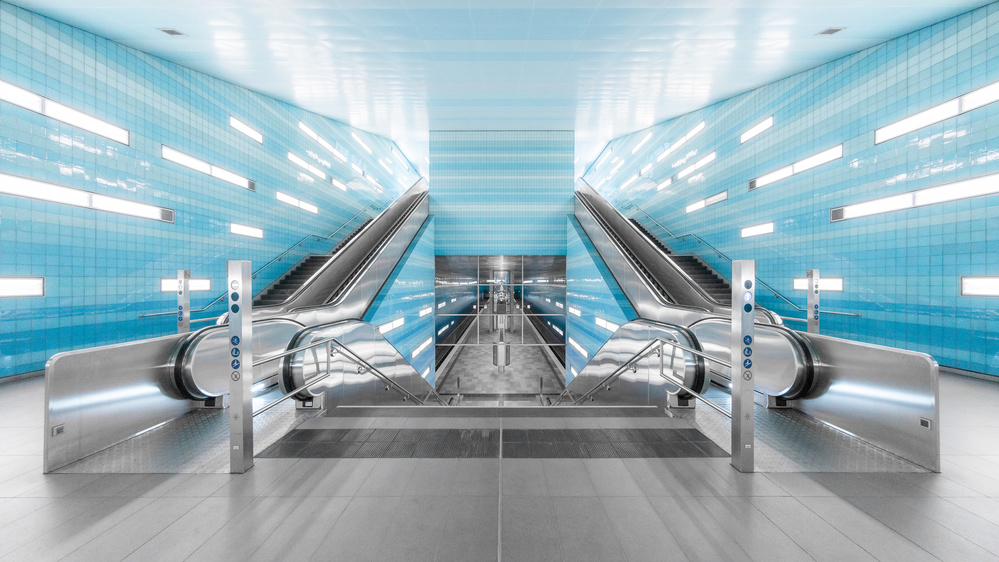 A piece of fine art art photography titled Beauty of a Subway Station by Harry Lieber