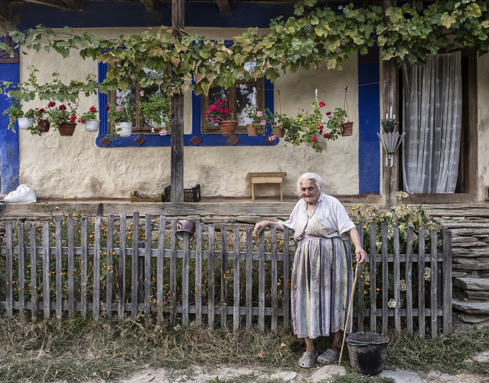 A piece of fine art art photography titled 98 Years Old by Andrei Nicolas - The Traveler