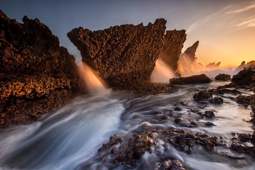 A piece of fine art art photography titled Yellow Stone by Gunarto Song
