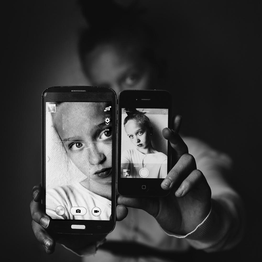 A piece of fine art art photography titled Teen Portrait by Kharinova Uliana