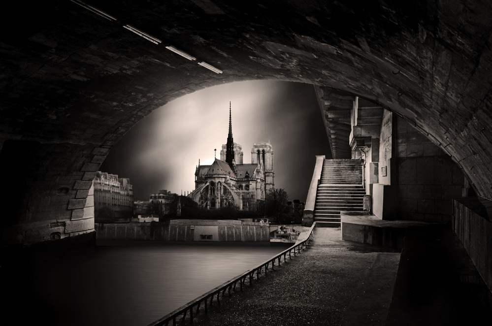 View this piece of fine art photography titled au milieu , coule la Seine ! by Christian MARCEL