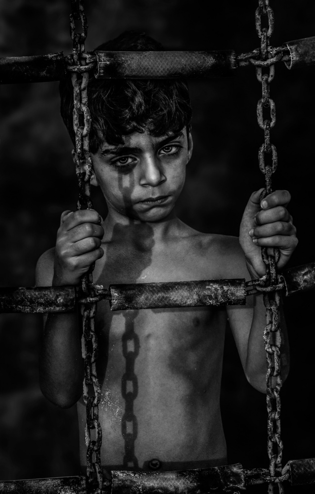 A piece of fine art art photography titled Children Prison by Saeed Dhahi