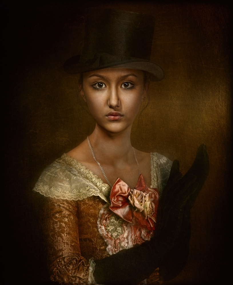 A piece of fine art art photography titled Portrait of a Colonial-style by Svetlana Melik-Nubarova