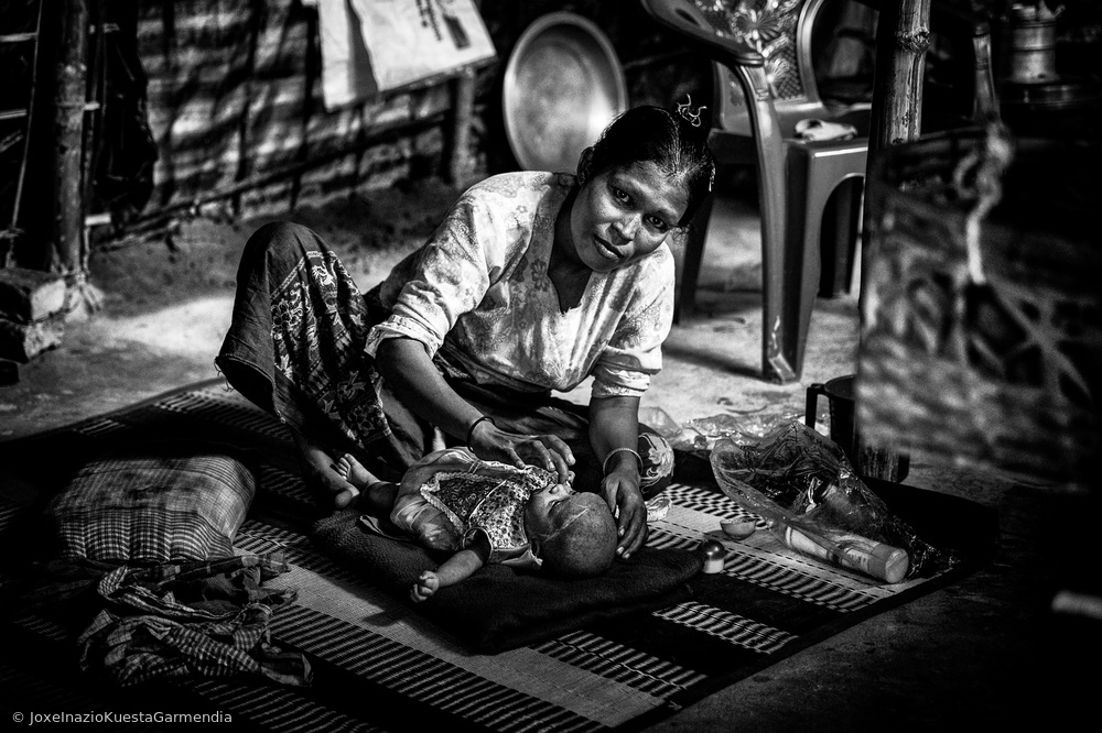 Rohingya refugee home - Bangladesh