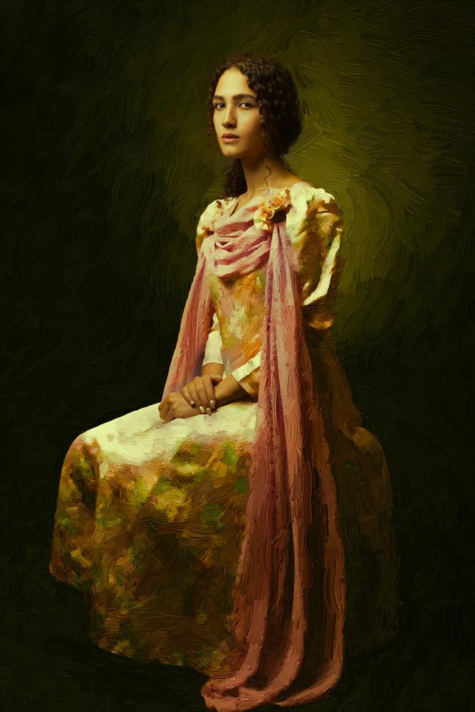 A piece of fine art art photography titled Monaliza by Mehdi Mokhtari