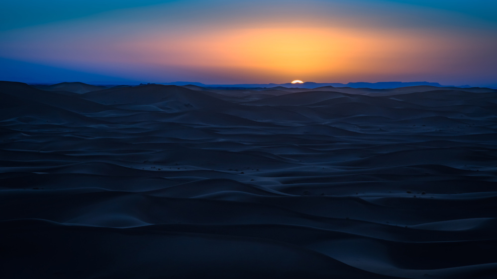 View this piece of fine art photography titled Sunset in the desert by Christian Lindsten