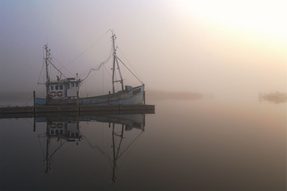 A piece of fine art art photography titled The Old Fishing Boat by Leif Løndal