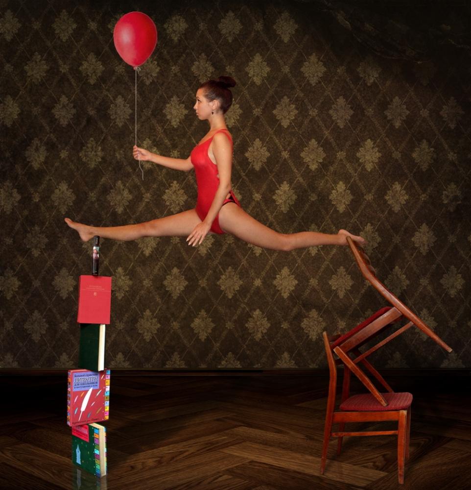 A piece of fine art art photography titled Unstable Equilibrium by Iryna Kuznetsova (Iridi)