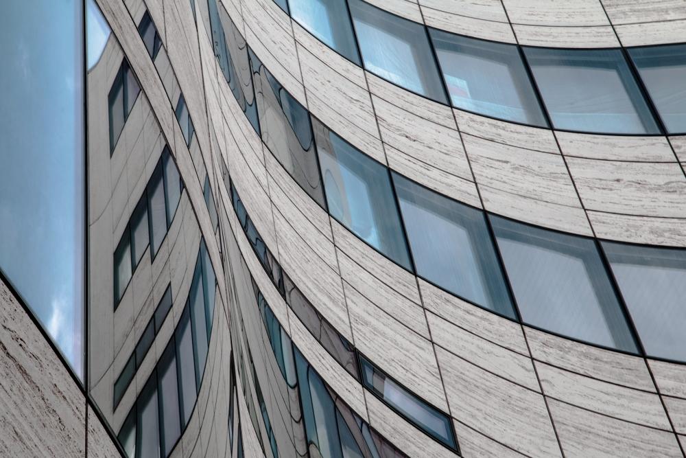 A piece of fine art art photography titled Kö Windows by Gilbert Claes
