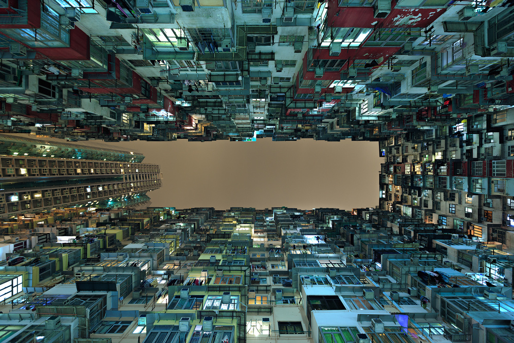 A piece of fine art art photography titled Urban Density by Greg Metro