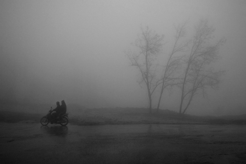A piece of fine art art photography titled The Fog by ahmet orhan