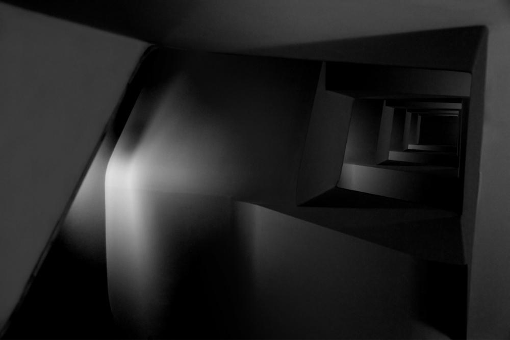 A piece of fine art art photography titled Dark Spiral by Koji Tajima